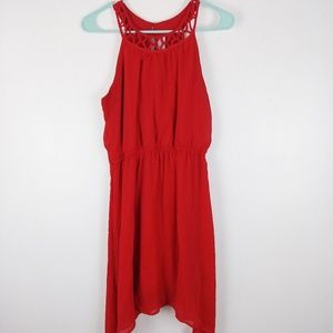 No Boundaries red sleeve less dress size 11-13